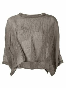 Taylor Stride crinkled crop top - Grey