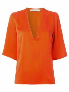 Nobody Denim V-neck boxy fit T-shirt - ORANGE