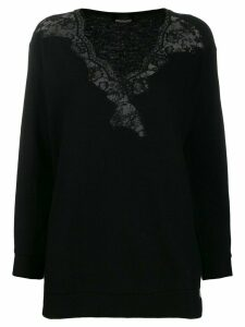 Ermanno Ermanno lace detail jumper - Black