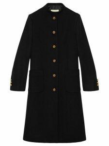 Gucci horsebit detail coat - Black
