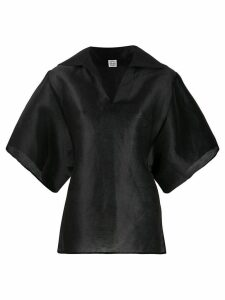 Totême pointed collar boxy-fit blouse - Black