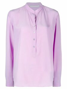 Stella McCartney band collar blouse - PURPLE