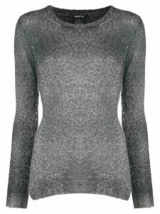 Avant Toi long sleeve slim-fit top - Grey