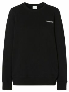 Burberry crystal-embellished logo sweatshirt - Black