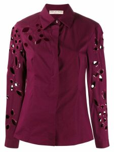 Emilio Pucci sequin trimmed cut-out blouse - Purple
