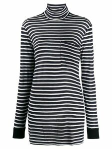 8pm long striped roll-neck top - Blue