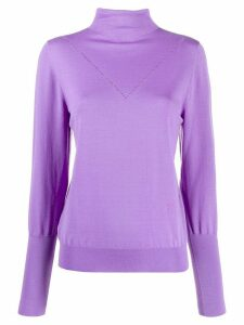 Victoria Victoria Beckham peek-a-boo jersey jumper - PURPLE