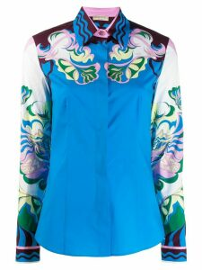Emilio Pucci printed long-sleeve shirt - White