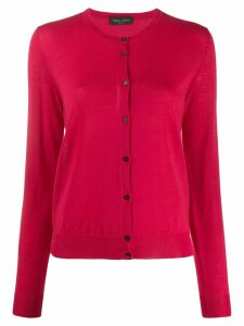 Roberto Collina fine knit round neck cardigan - PINK