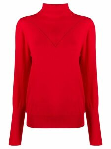 Victoria Victoria Beckham peek-a-boo jersey jumper - Red