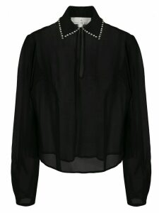 Fleur Du Mal embellished collar blouse - Black