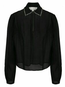 Fleur Du Mal embellished collar blouse - Black