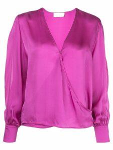 Fleur Du Mal wrap front style blouse - PINK