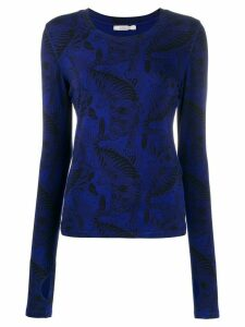 Dorothee Schumacher tiger print long-sleeve top - Blue