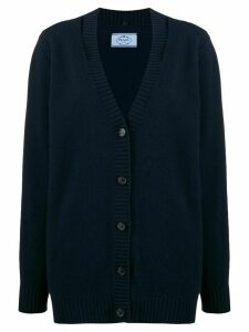 Prada slit-detail knitted cardigan - Blue