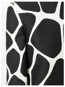 Valentino giraffe print foulard blouse - Black