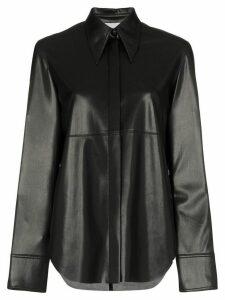 Nanushka Noelle long-sleeve shirt - Black