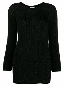 Saint Laurent lurex knit sweater - Black