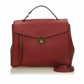 MCM Red Leather Satchel