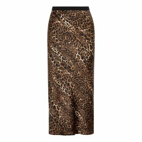 Cami NYC The Jessica Leopard-print Silk Midi Skirt