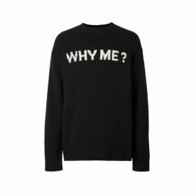 Burberry Slogan Intarsia Cashmere Sweater