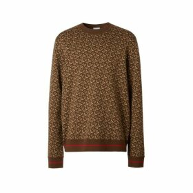 Burberry Monogram Merino Wool Jacquard Sweater