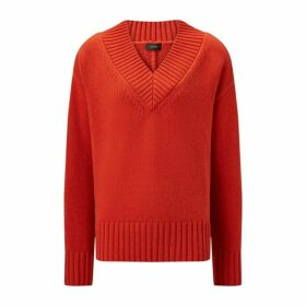 Joseph V Neck Wool Cashmere Knit