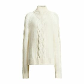 Joseph High Neck Chunky Cable Knit Sweater