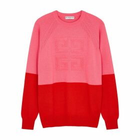 Givenchy 4G Colour-blocked Cashmere Jumper