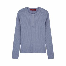 Sies Marjan Kate Lilac Metallic-knit Jumper