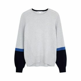 Duffy Colour-blocked Cashmere Jumper