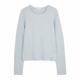 Duffy Pale Blue Rib-knit Jumper