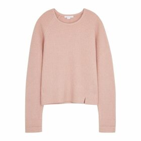Duffy Dusky Pink Ribbed-knit Jumper