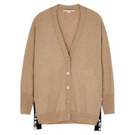 Stella McCartney Camel Logo Wool Cardigan
