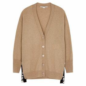 Stella McCartney Camel Logo Wool Cardigan