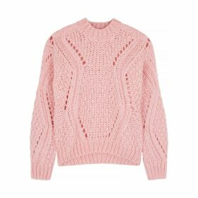 Stine Goya Alex Light Pink Open-knit Jumper