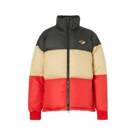 Burberry Logo Graphic Striped Puffer Jacket