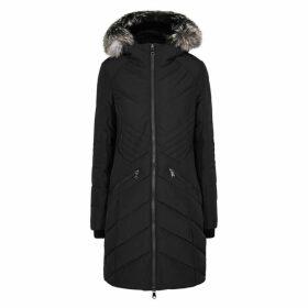 Pajar Zotique Black Fur-trimmed Shell Coat