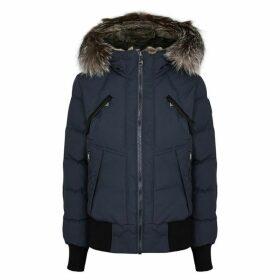 Pajar Rachel Grey Fur-trimmed Shell Bomber Jacket