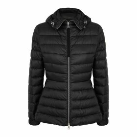 Moncler Amethyste Black Quilted Shell Jacket