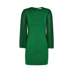 Alice + Olivia Zaya Green Stretch-jersey Mini Dress