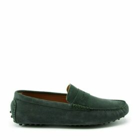 Hugs & Co Penny Driving Loafers Racing Green Suede