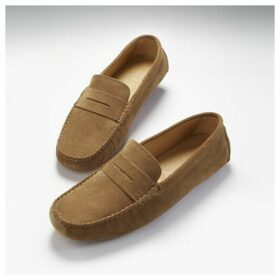 Hugs & Co Penny Driving Loafers Tobacco Suede