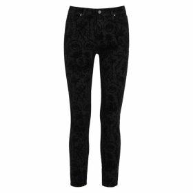 Paige Hoxton Transcend Flocked Skinny Jeans