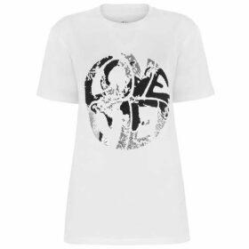Alberta Ferretti Love Me Sequin T Shirt