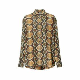 Burberry Python Print Silk Shirt