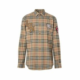 Burberry Classic Fit Logo Graphic Vintage Check Cotton Shirt