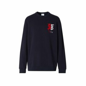 Burberry Contrast Logo Graphic Cotton Sweatshirt