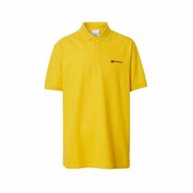 Burberry Location Print Cotton Pique Oversized Polo Shirt