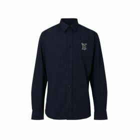 Burberry Monogram Motif Stretch Cotton Poplin Shirt